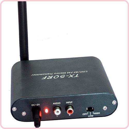 TX 50RF Achterkant - Gebruiksaanwijzing Transmitters